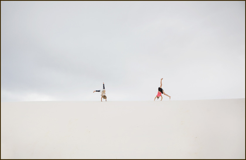 White Sands New Mexico cartwheel