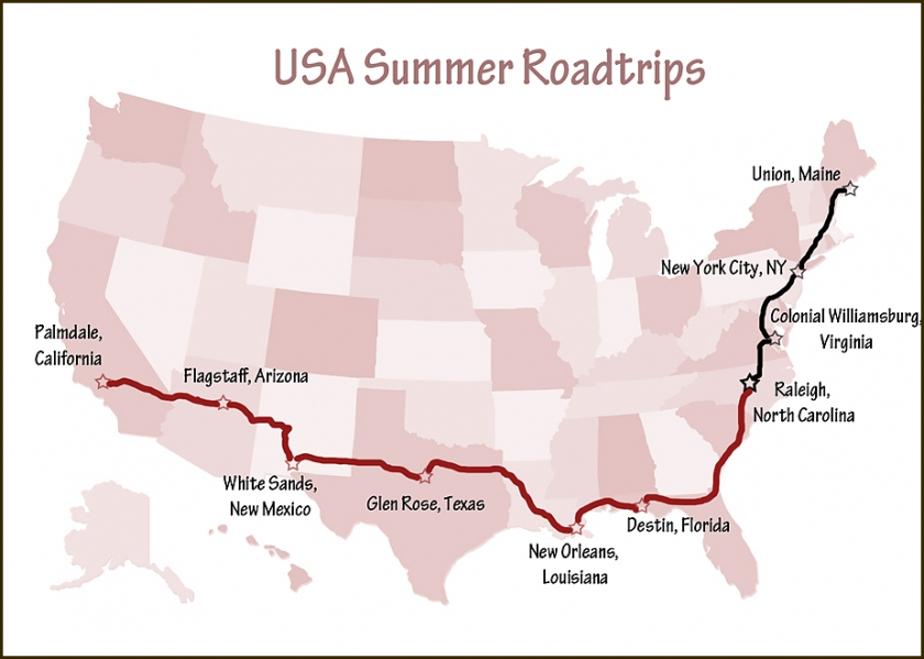 Map USA Roadtrips